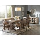 Willoughby Weathered Barley Extendable Dining Room Set