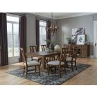 Bay Creek Toasted Nutmeg Trestle Extendable Dining Room Set