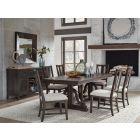 Westley Falls Graphite Trestle Extendable Dining Room Set